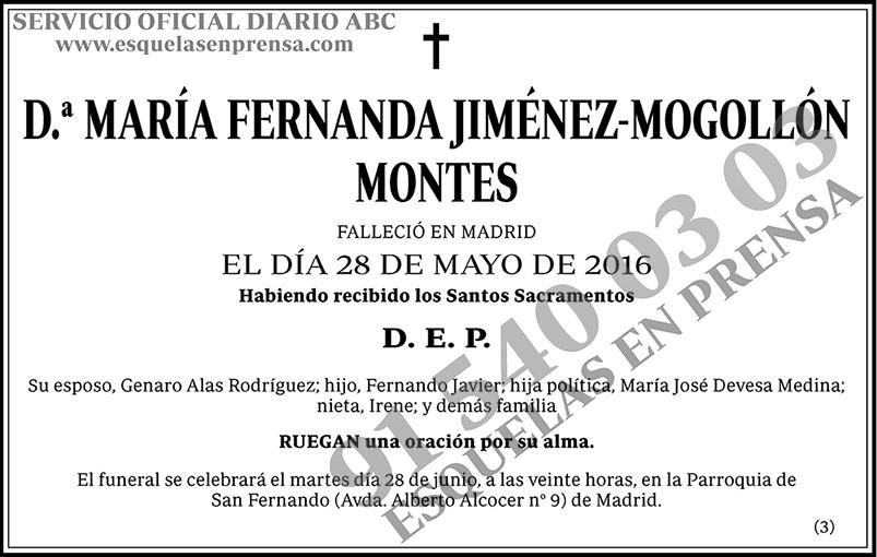 María Fernanda Jiménez-Mogollón Montes